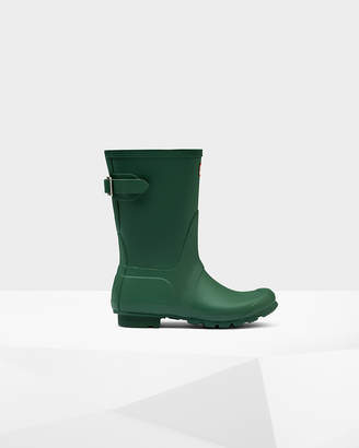 Hunter women's original short back adjustable wellington boots
