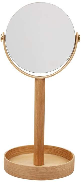 Wireworks Double-Sided Natural Oak Stand Mirror