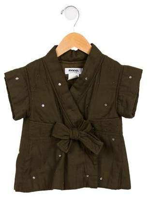 Rykiel Enfant Girls' Embellished Wrap Top