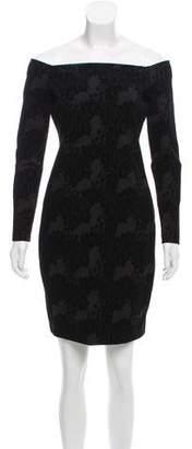 L'Agence Patterned Off-The-Shoulder Dress