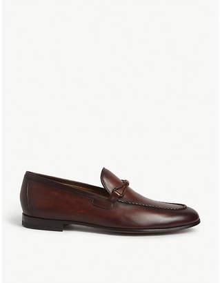 Magnanni Braid-trim leather loafers
