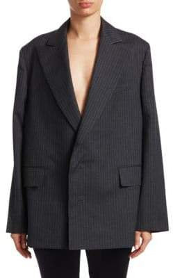 Junya Watanabe Wool Stripe Two-Button Blazer