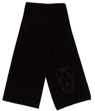 Thomas Wylde Embellished Wool-Blend Scarf