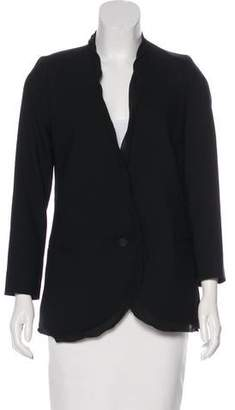 Helmut Lang Collarless Wool Blazer