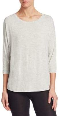 Majestic Filatures Relaxed Three-Quarter Sleeve Pullover