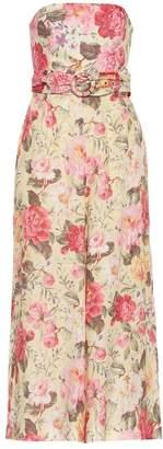 Zimmermann Honour floral linen jumpsuit