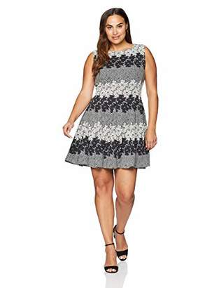 Eliza J Women's Plus Size Sleeveless Fit and Flare Dress