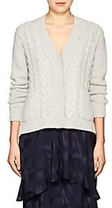 Barneys New York Women's Cable-Knit Cashmere Cardigan-Light Gray