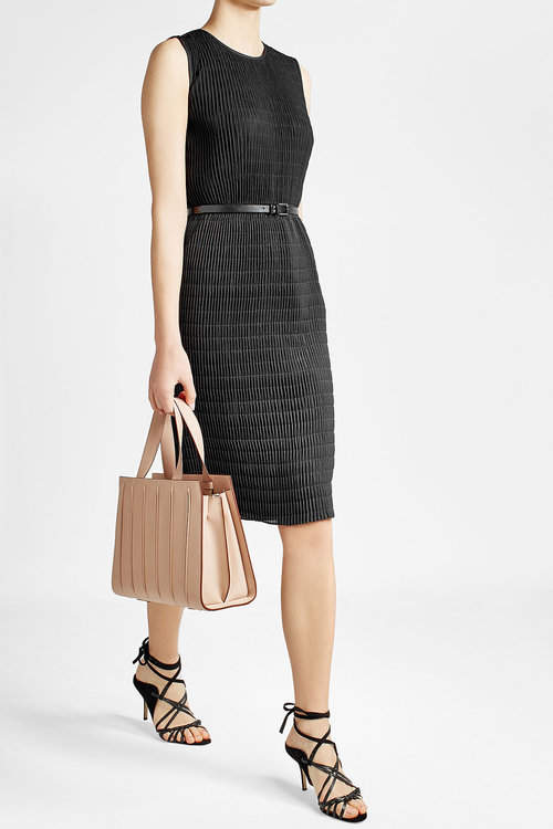 Max Mara Max Mara Textured Dress with Leather Belt