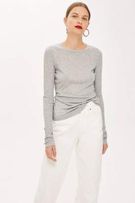 Topshop Ribbed Crew Neck T-Shirt by Boutique