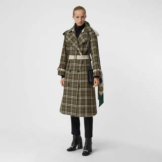 Burberry Reversible Tropical Gabardine and Check Trench Coat