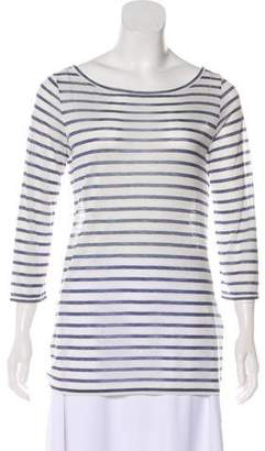 DAY Birger et Mikkelsen Striped Semi-Sheer Top