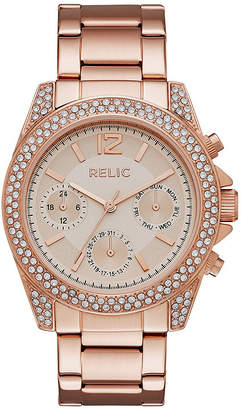 RELIC Relic Womens Rose Gold-Tone Stainless Steel Bracelet Watch