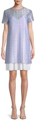 ENGLISH FACTORY Subtle Plaid Shift Dress