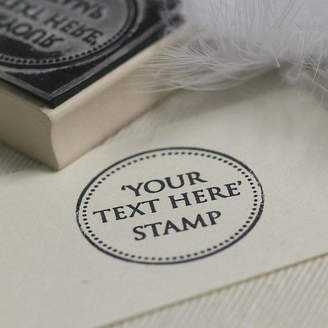 S.t.a.m.p.s. Pretty Rubber 'Your Own Text' Rubber Stamp