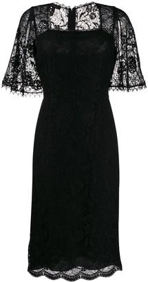 Escada lace panel dress
