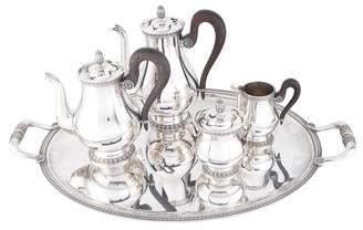 Christofle 5-Piece Silverplate Malmaison Tea & Coffee Service