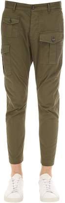 DSQUARED2 16cm Boxer Cotton Canvas Cargo Pants