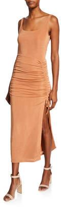 Misha Collection Jacynta Scoop-Neck Sleeveless Shirred Jersey Dress