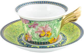 Versace 25th Anniversary D.V. Floralia Teacup & Saucer