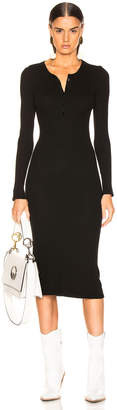 Enza Costa Thermal Long Sleeve Henley Dress