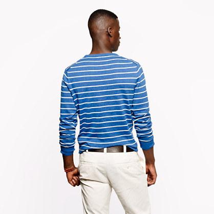 J.Crew Cotton crewneck sweater in cerulean stripe
