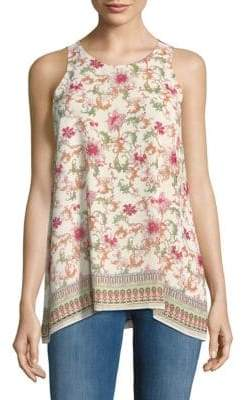 Max Studio Printed Sleeveless Top