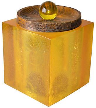 One Kings Lane Vintage Acrylic Ice Bucket Cork & Wood