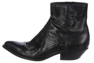 Saint Laurent 2015 Python Santiag Boots