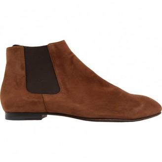 Jil Sander Brown Suede Ankle boots