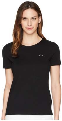 Lacoste Short Sleeve Classic Supple Jersey Crew Neck T-Shirt Women's T Shirt