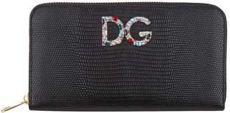 Dolce & Gabbana Leather Zip-Around Wallet