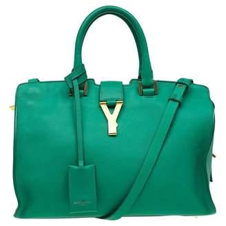 Saint Laurent Chyc Green Leather Handbags