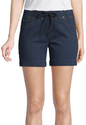 ST. JOHN'S BAY Womens Mid Rise 5 Denim Short