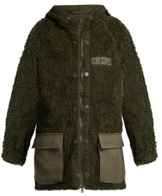 Myar - Faux Shearling Hooded Jacket - Womens - Khaki