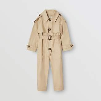 Burberry Childrens Cotton Trench Jumpsuit