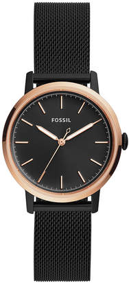 Fossil Women's Neely Black Stainless Steel Mesh Bracelet Watch 34mm