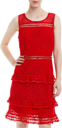 Romeo & Juliet Couture Sleeveless Tiered Crochet Dress