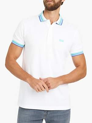 c5c3562ac4ec at John Lewis and Partners · HUGO BOSS BOSS Paddy Cotton Polo Shirt, White