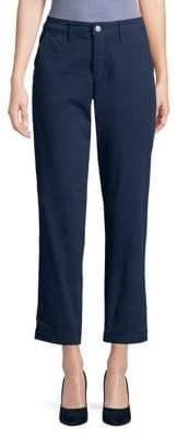 Jones New York Cropped Straight Leg Chino Pants