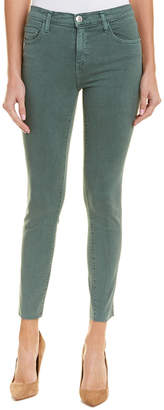 Current/Elliott The High-Waist Stiletto Balsam Green Skinny Leg