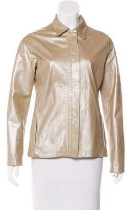 Versace Metallic Leather Jacket