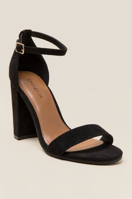 Indigo Rd Bradlee Peep Toe Block Heel - Black