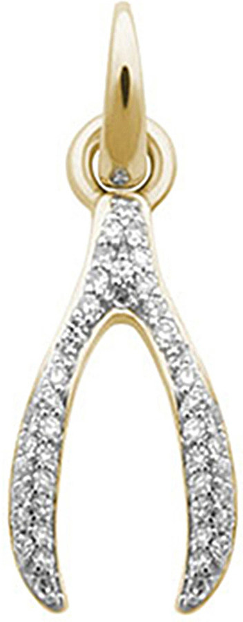 Links Of LondonLINKS OF LONDON Wishbone 18ct yellow-gold and diamond charm