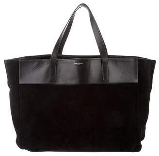 Saint Laurent Suede Shopper Tote