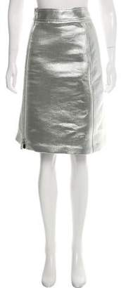 Marni Metallic Zip-Up Skirt