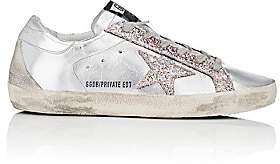 Golden Goose Women's Superstar Metallic Leather Sneakers-Silver