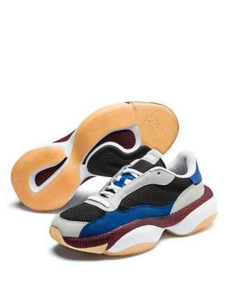 Puma Men's Alteration Kurve Leather-Trim Sneakers