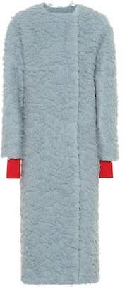 Roksanda Edine camel wool and silk coat