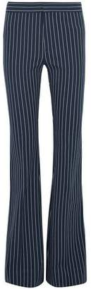 Derek Lam 10 Crosby Striped Stretch-Cotton Flared Pants